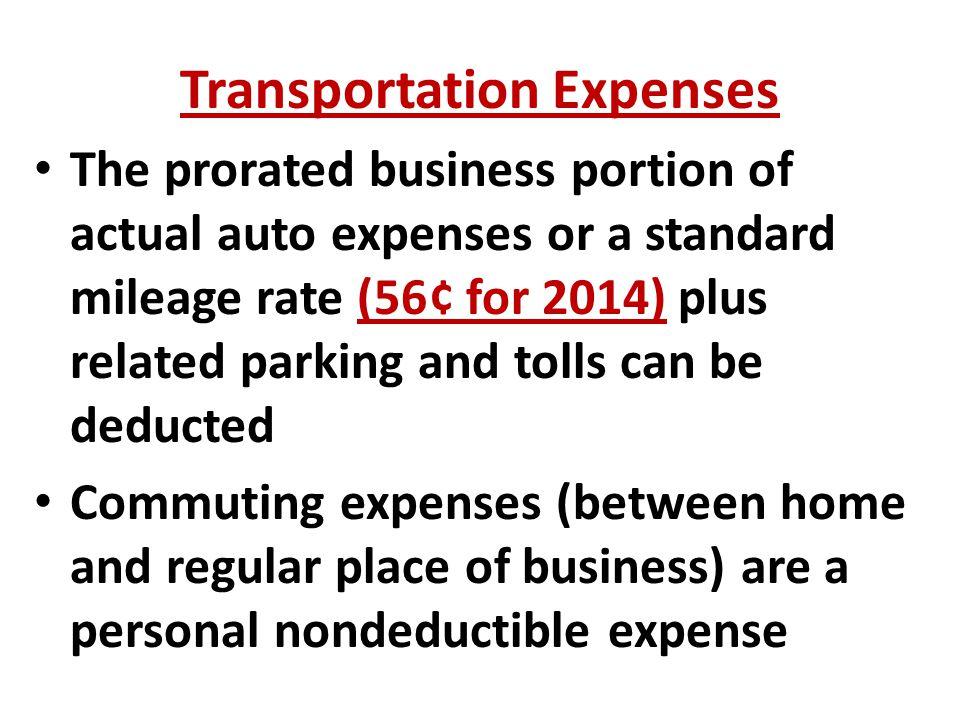 mileage reimbursement for standard commute