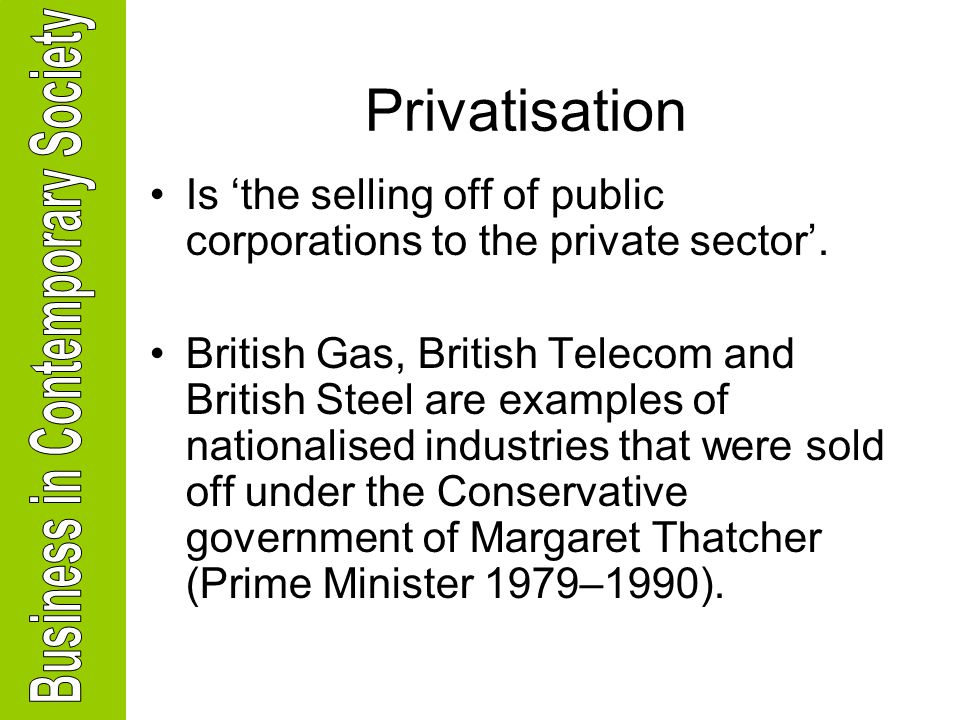 privatization vs public sector The meaning of privatization work on this article was supported by a grant from the pew charitable trust for the study of public sector reform and privatization.