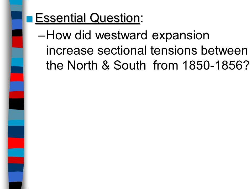 How did events in the 1850s increase tensions between North and South in the United States?