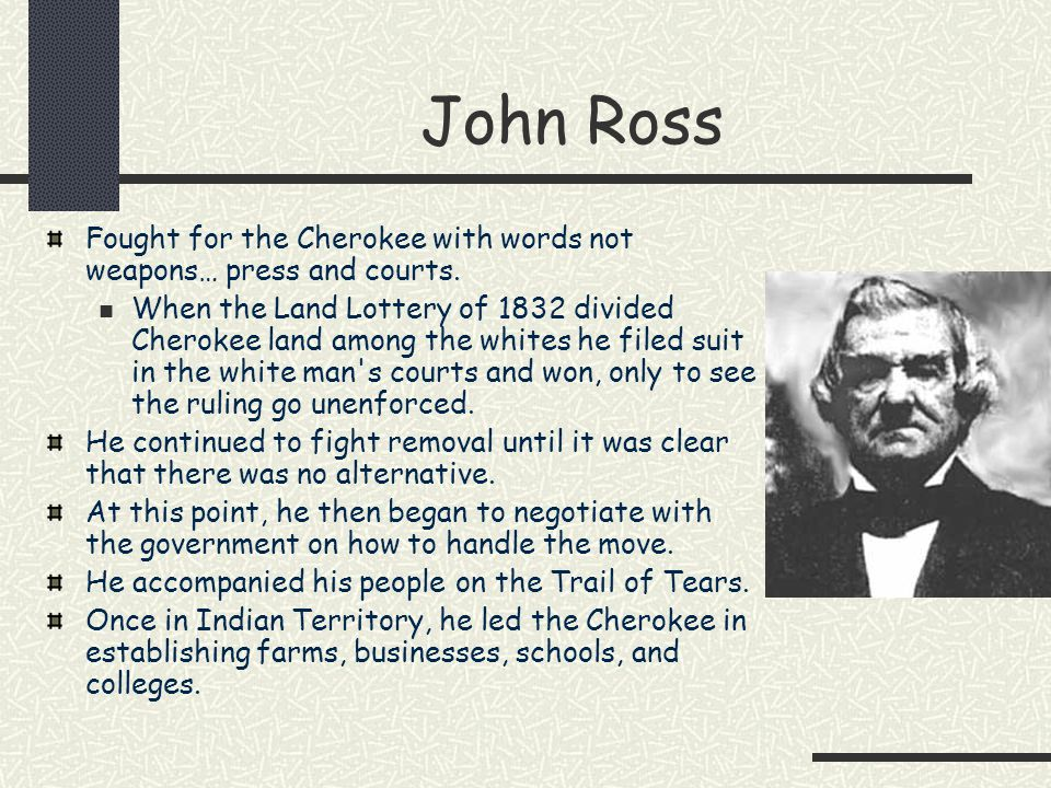 john ross and andrew jackson President andrew jackson, cherokee chief john ross, and the great american land grab.
