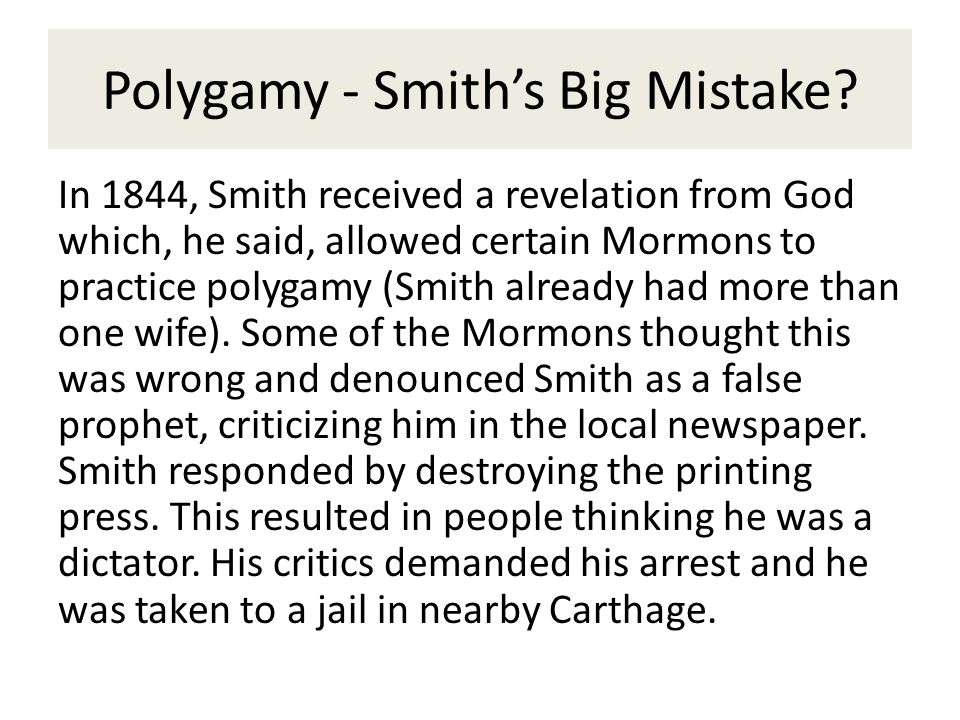 the belief and practice of polygamy by the mormons Shifting sexual mores have made mormon polygamy and sacred undergarments a matter more of analogously, why would distinctively christian practices and beliefs, including the establishment of a church of christ, the practice of baptism.