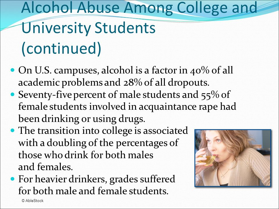 Alcohol Abuse Statistics College Students