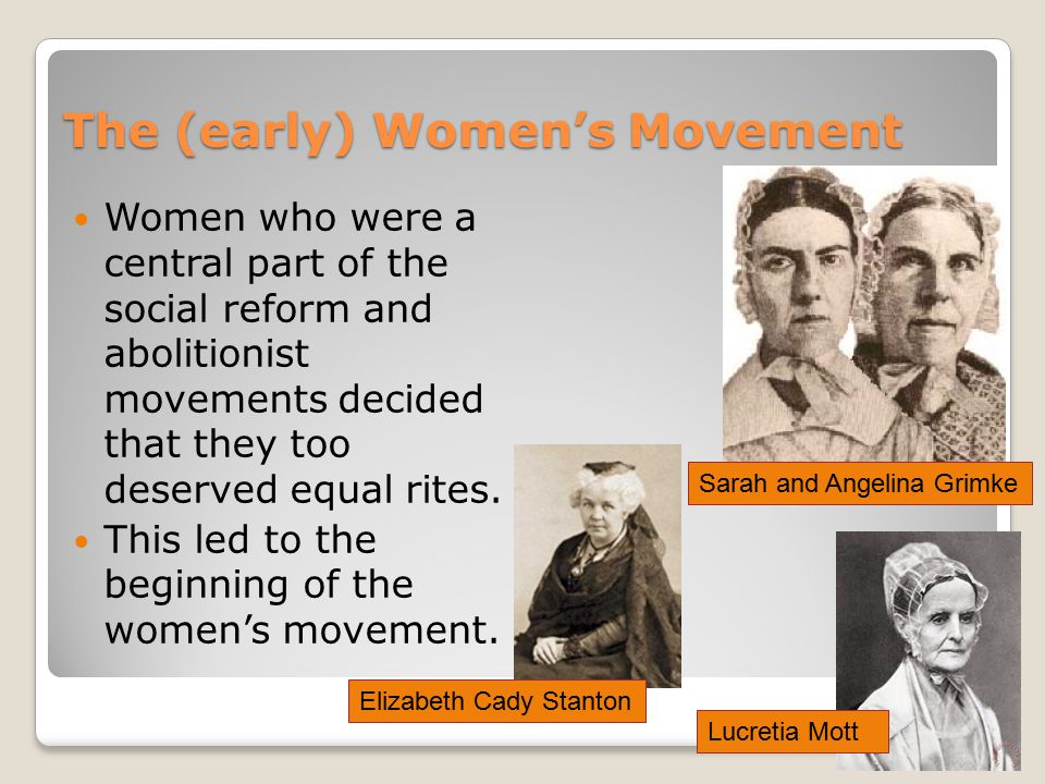 The (early) Women's Movement