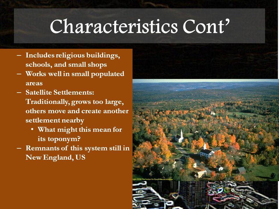 characteristics of rural settlement pdf