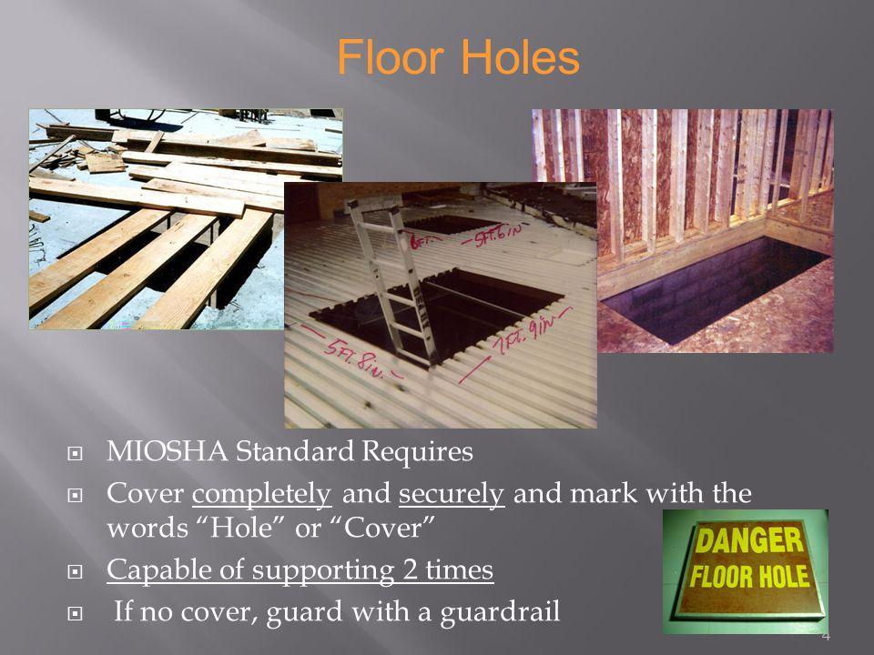 Fall Protection Miosha Part 45 Osha 1926 Subpart M Holes