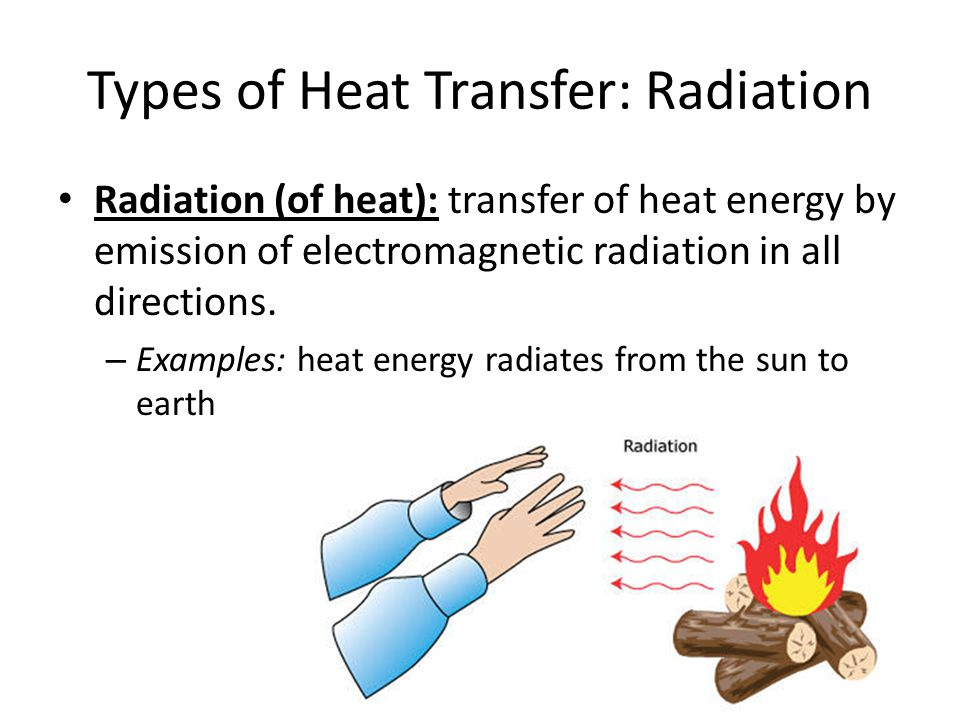 Example of radiation energy