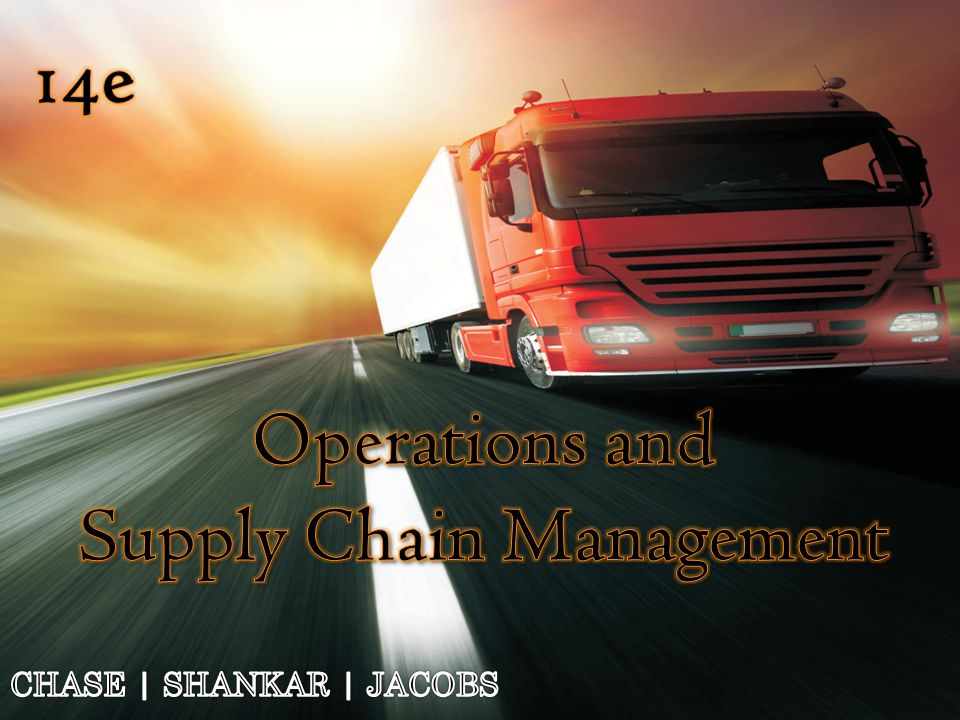 chapter 1 operations and supply chain Chapter 1 operations management  key operations questions part one introduction  (called supply chain management.