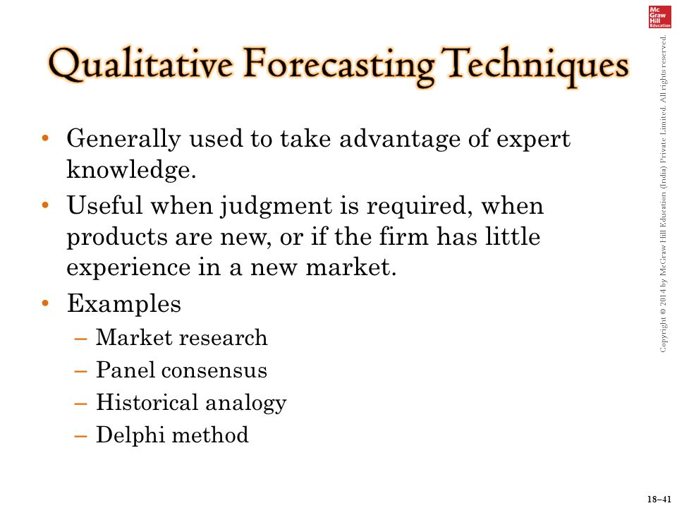 use of forecasting technique in purchase Forecasting exchange rates is a variable that preoccupies economists,  businesses and governments  of the techniques of forecasting with an  emphasis on its applications and use in business decision-making,  preview  buy chapter $2995.