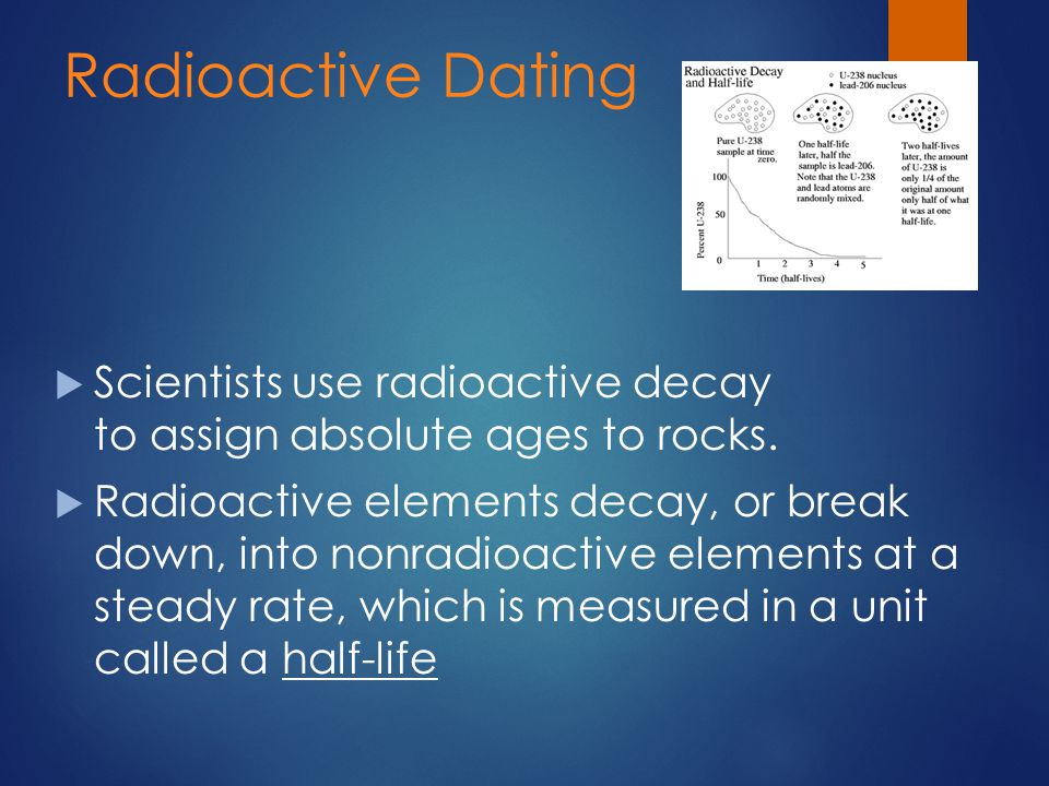 What do geologists use radioactive dating for geology