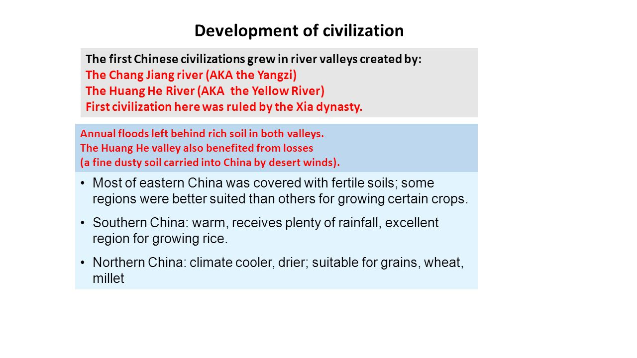 the development of a civilization E the development of civilization answer these questions from your text book complete the following sentence pages 4-8 archaeologist learn.