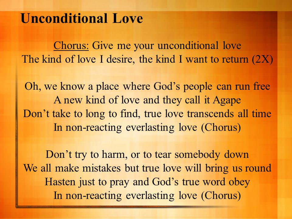 Let it Grow by Eric Clapton (1 of 2) - ppt video online ... Gods Unconditional Love Agape