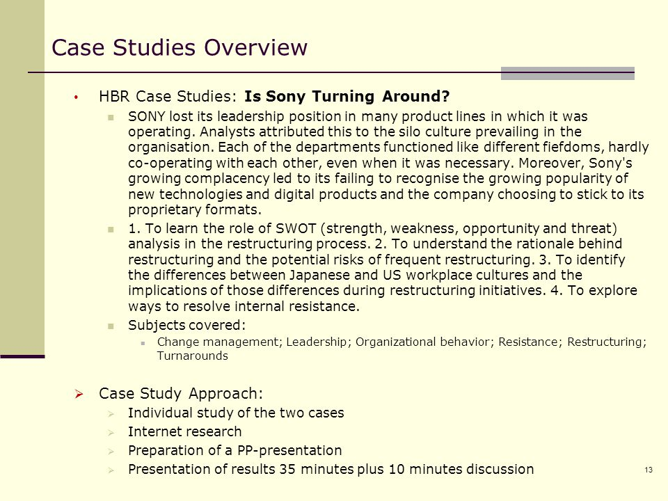 hbr case studies free download