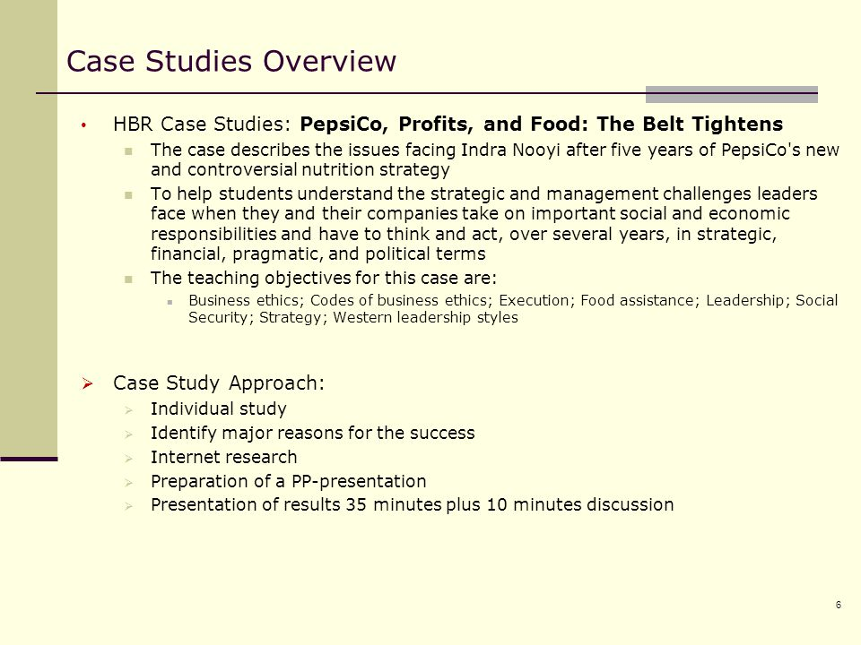 harvard business review ethics case studies