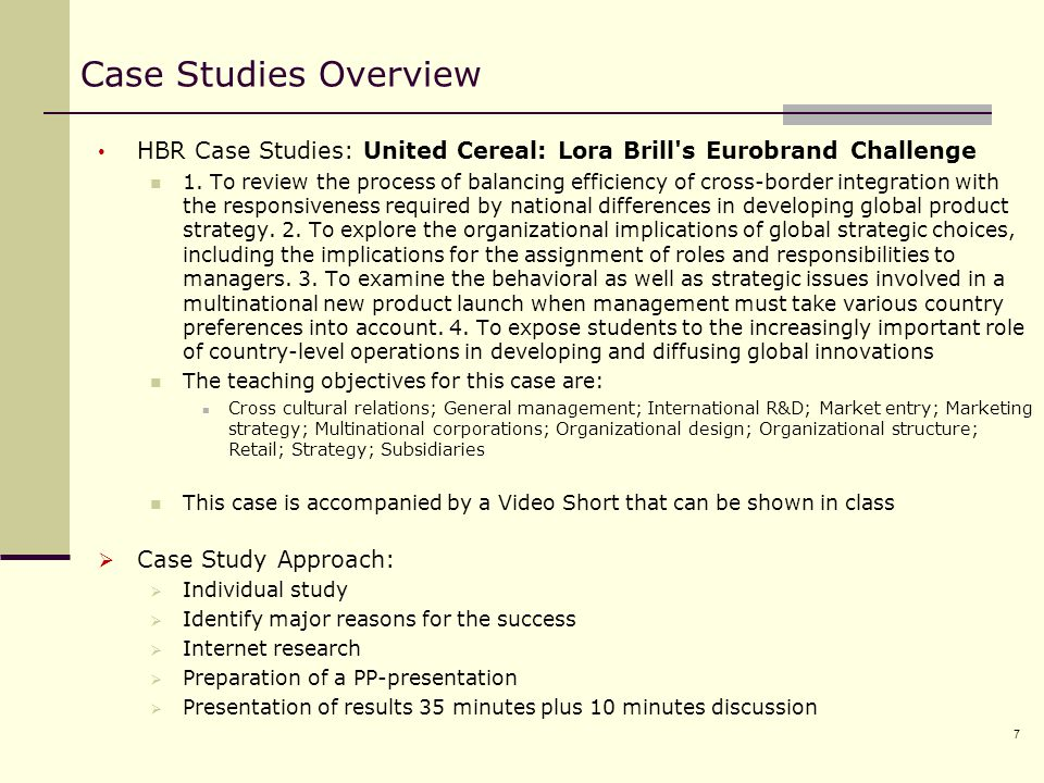 United Cereal: Lora Brill's Eurobrand Challenge Case Solution & Answer