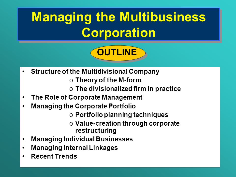 Managing the Multibusiness Company