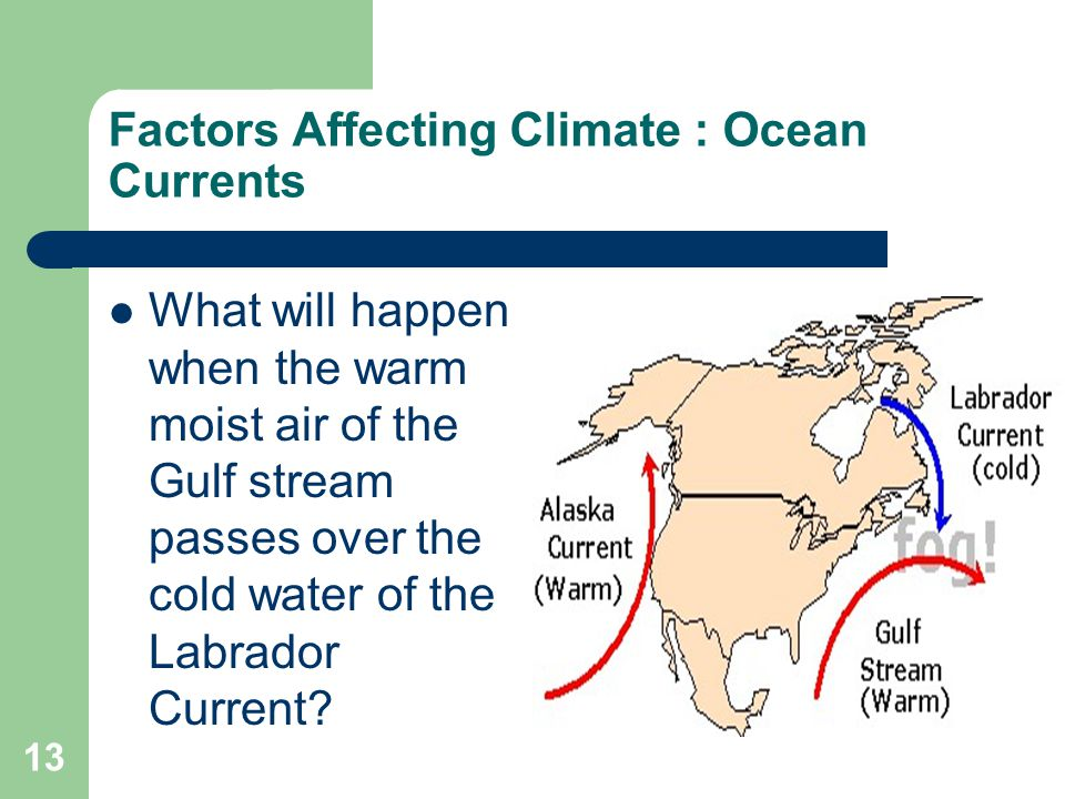 Factors Affecting Climate : Ocean Currents