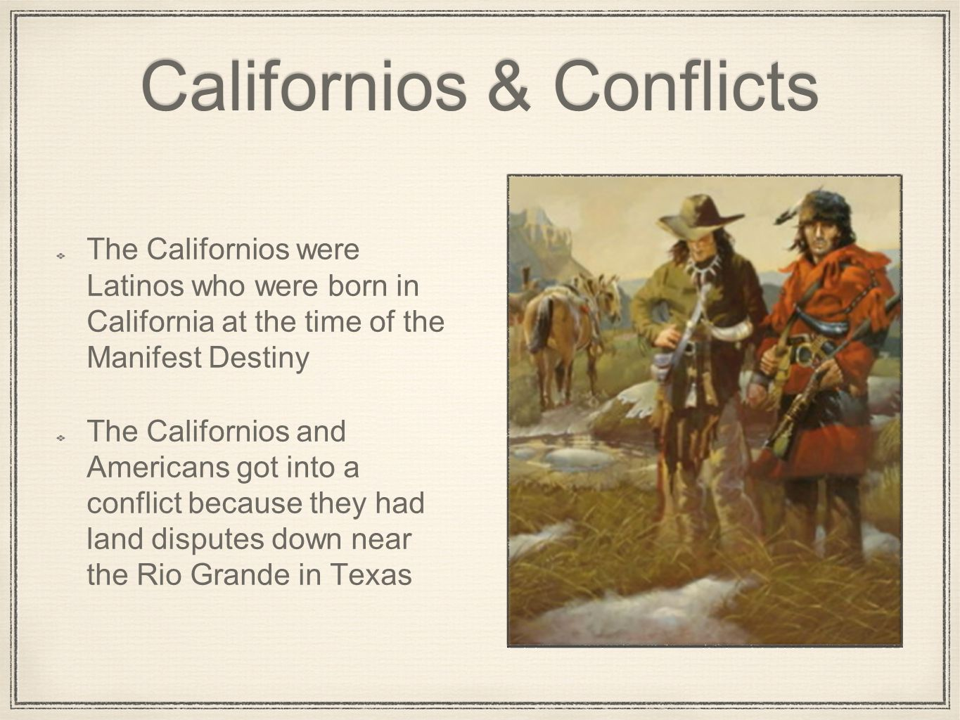 """manifest destiny and the mexican war America went to war to gain territory from mexico and expand the nation's boundary  journalist john l o'sullivan, spread the idea of """"manifest destiny"""" writing,."""