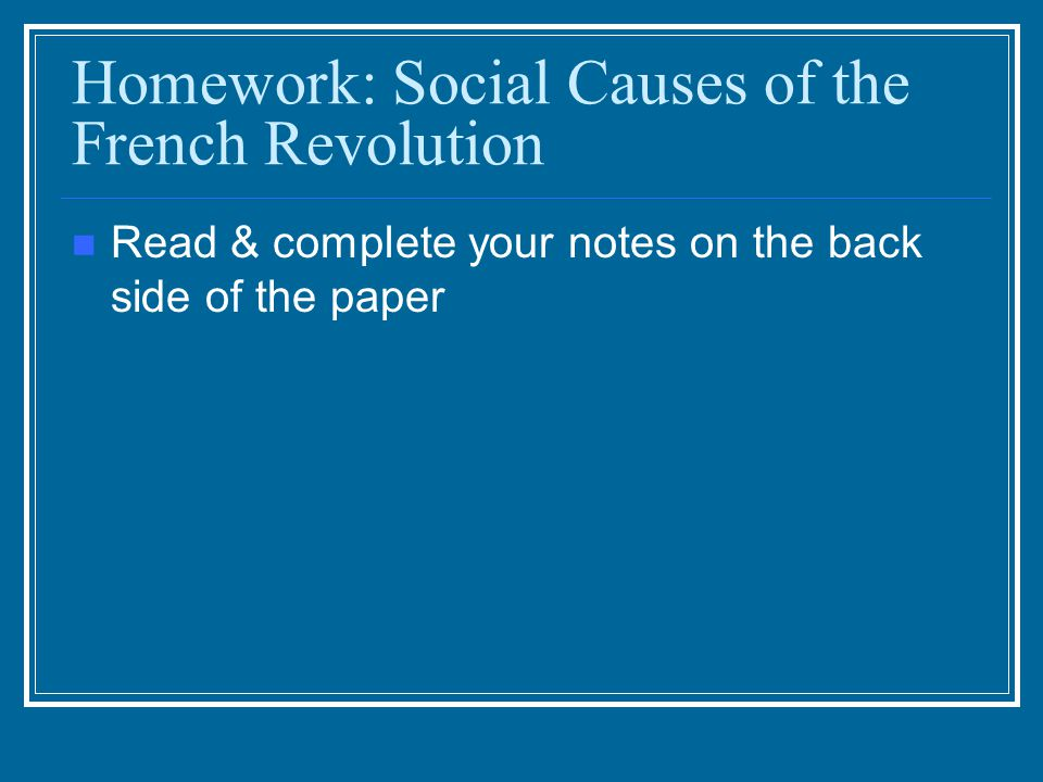 economic causes of french revolution essay