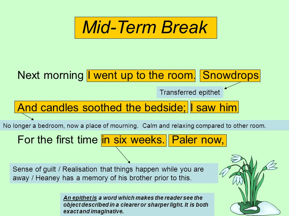 tone in mid term break Mid term break with words revision ppt, 2 mb mid term break report a problem this resource is designed for uk teachers view us version categories & grades.