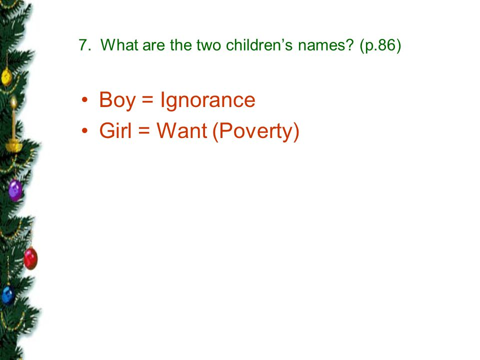 7. What are the two children's names (p.86)