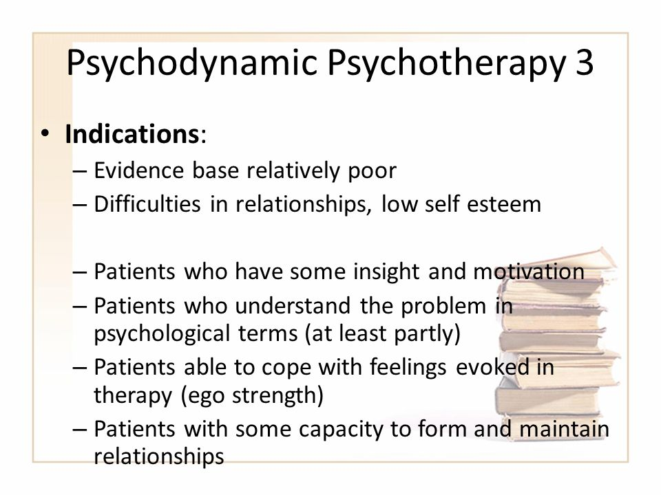 the therapeutic relationship in psychodynamic psychotherapy