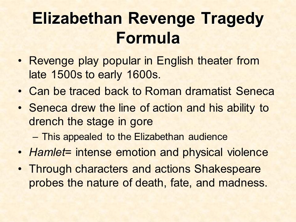 Hamlet as a Revenge Tragedy / Is Hamlet a Revenge Tragedy?