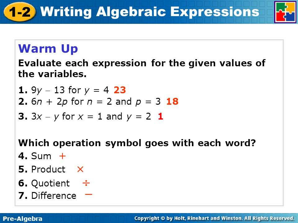 writing algebraic expressions from word problems pdf