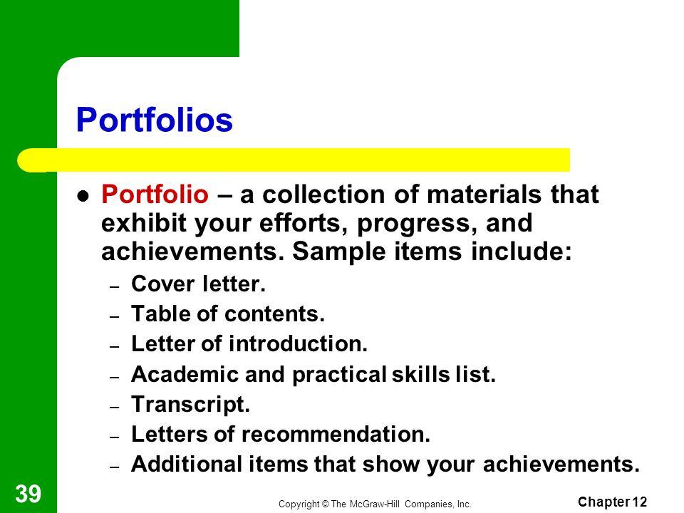 cover letter skills list