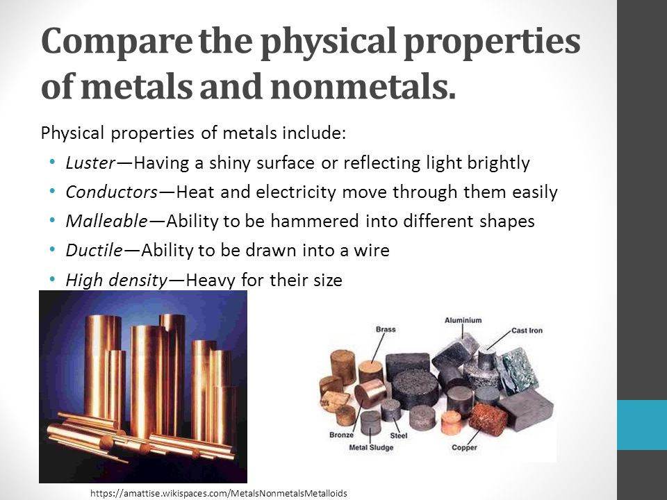 comparing the density of metals Metals and alloys - densities density of some common metals and alloys - aluminum, bronze, copper, iron and more.