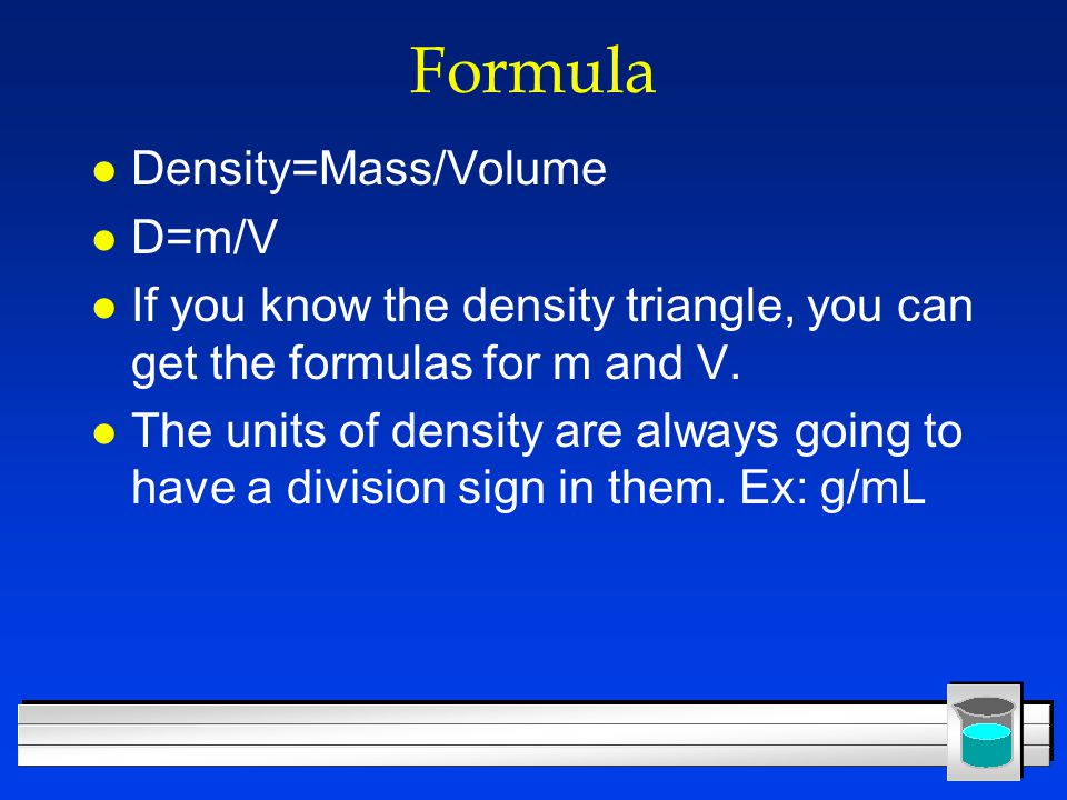 how to find volume if you know mass and density