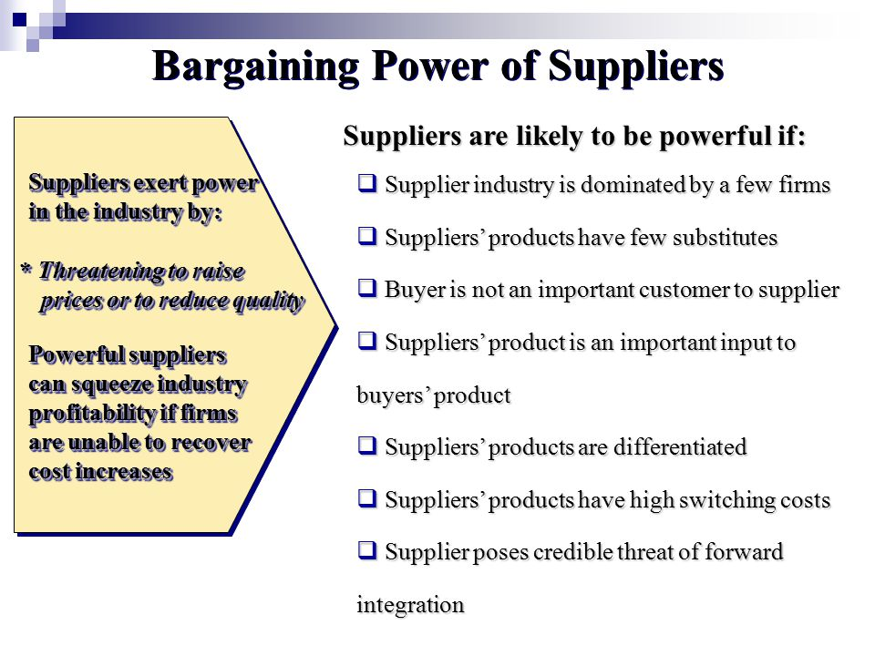 bargaining power of suppliers aggregation of Framework agreements and repeated purchases: the basic economics and a case  • increased bargaining power of the contracting authority  since suppliers are.
