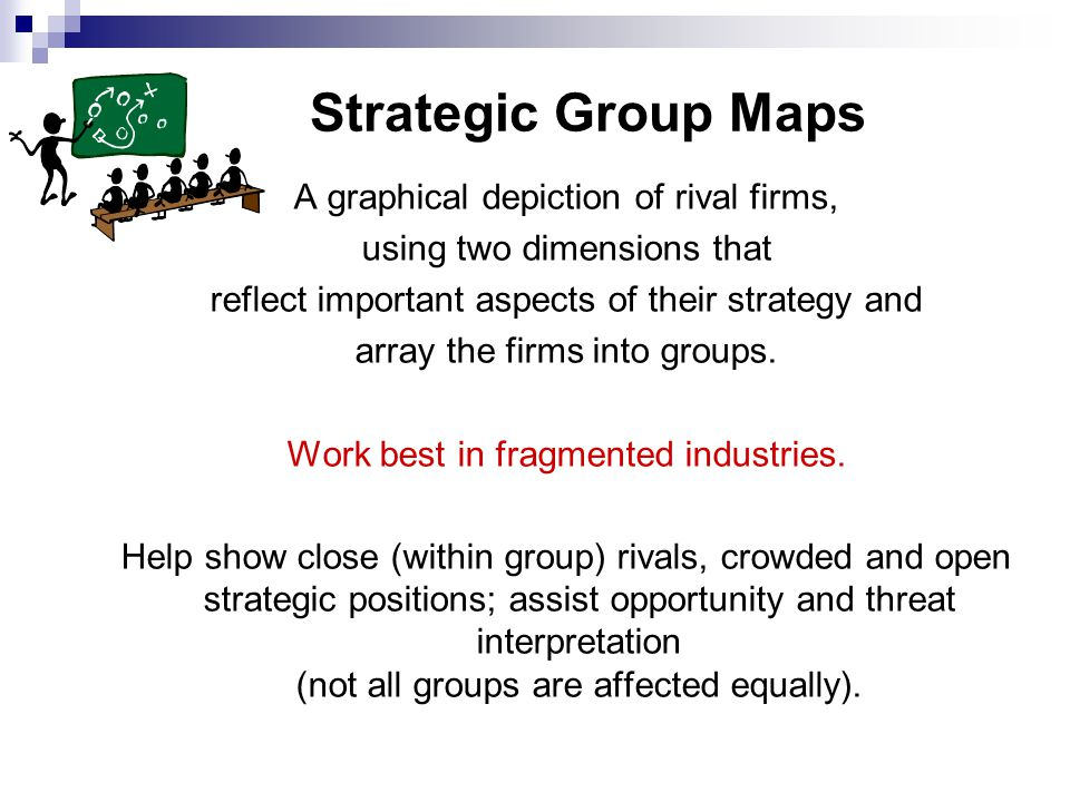 Strategic Group Maps A graphical depiction of rival firms,