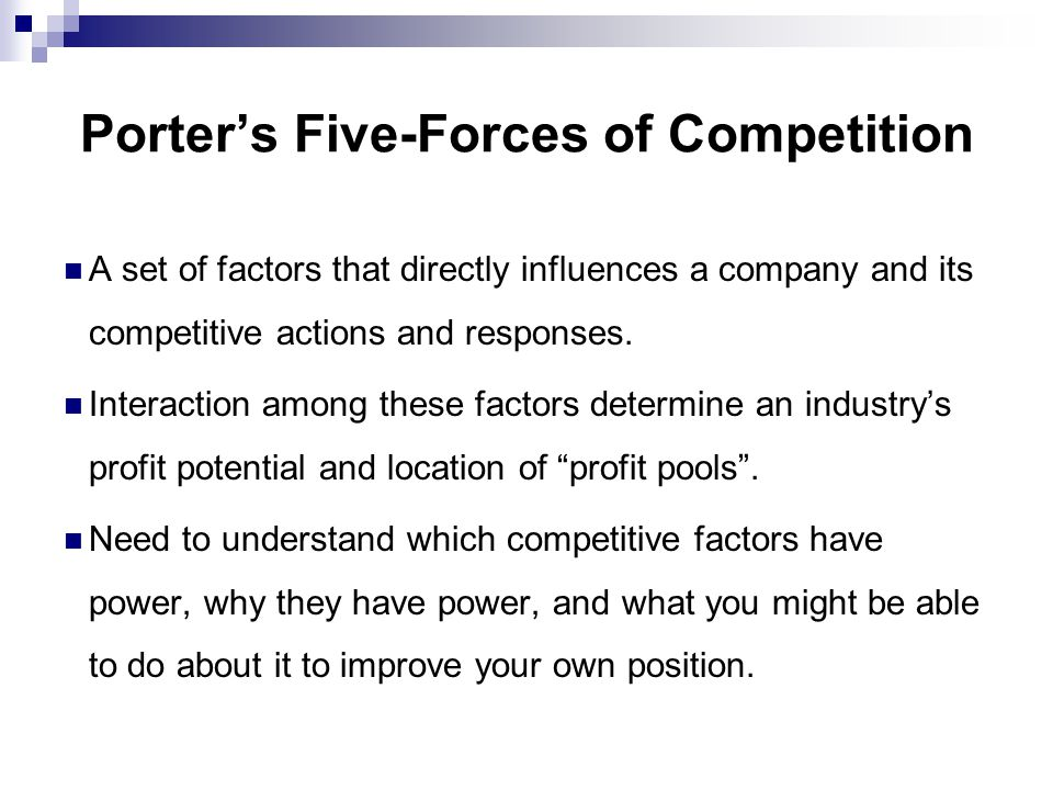 Porter's Five-Forces of Competition