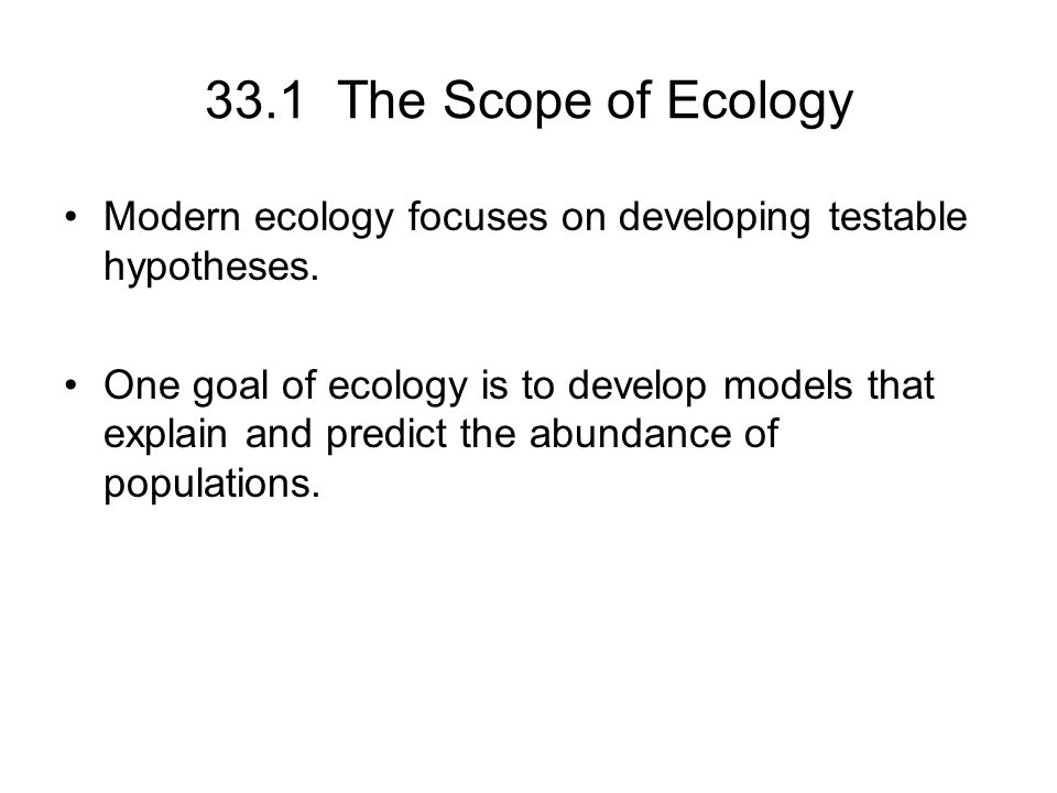 the scope of ecology 51 principles of ecology notes module - 2 ecological concepts and issues 43 habitat and organism habitat is the physical environment in which an organism lives.