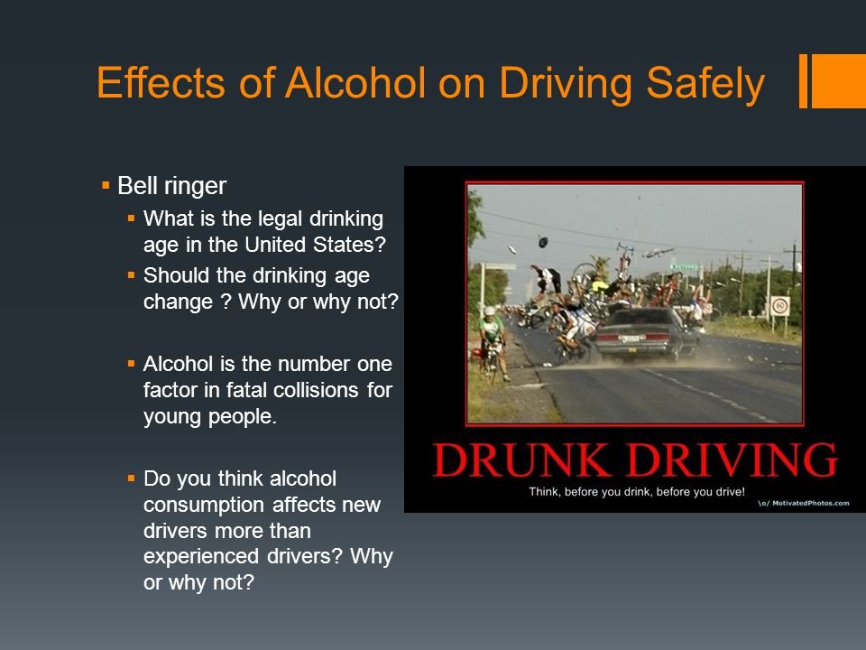 an introduction to the effects of alcohol on drivers Effects of drinking alcohol drinking alcohol is like taking a drug it is a form of drug abuse, and drug addiction this is a worldwide problem that many.
