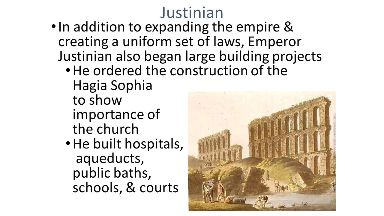 the significance of the role of justinian in world history