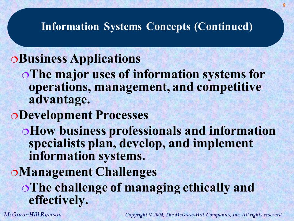 managing business information systems and applications Application development for company information systems it consulting for  creating and managing business information systems as well as defining and.