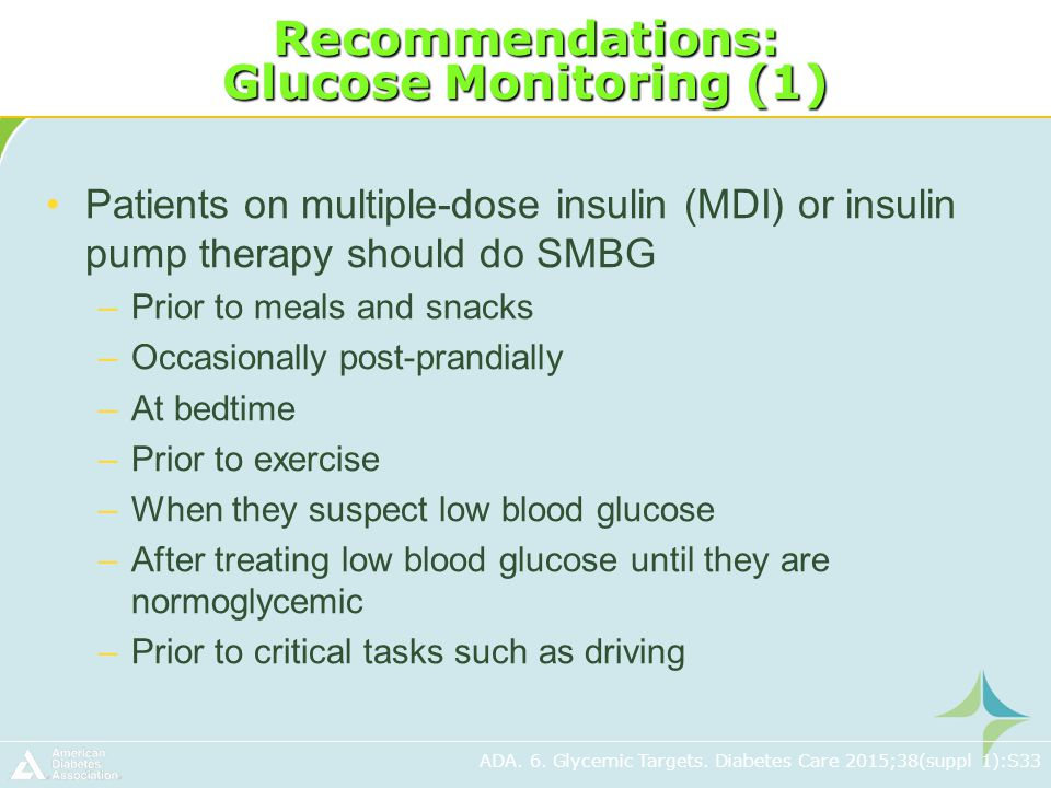 blood glucose monitoring and recommendation report