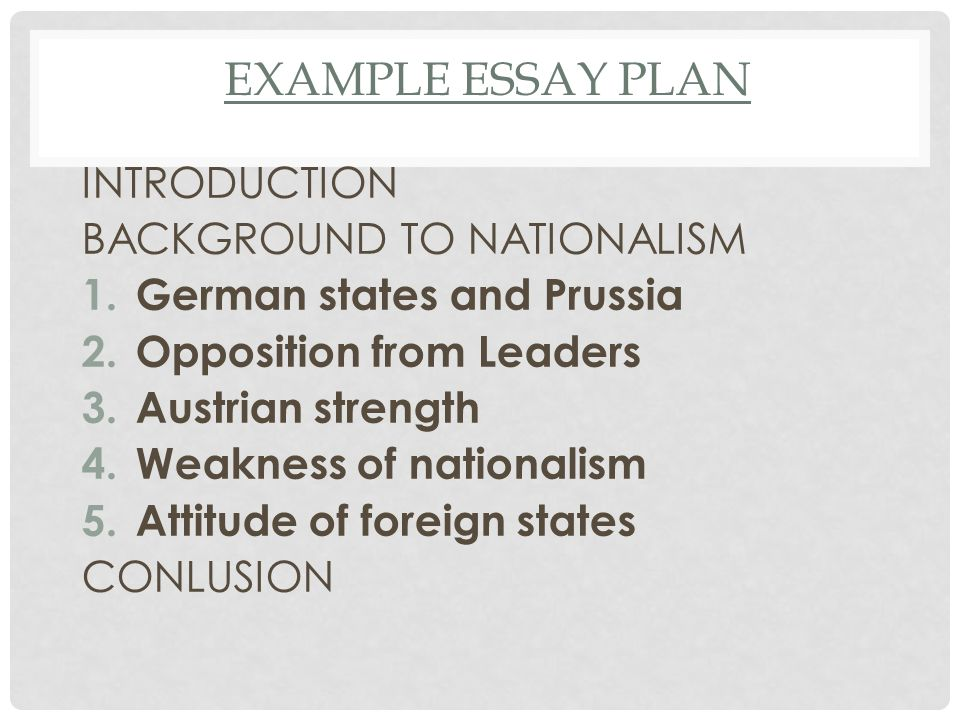 an evaluation of the obstacles to german unification  47 example essay plan