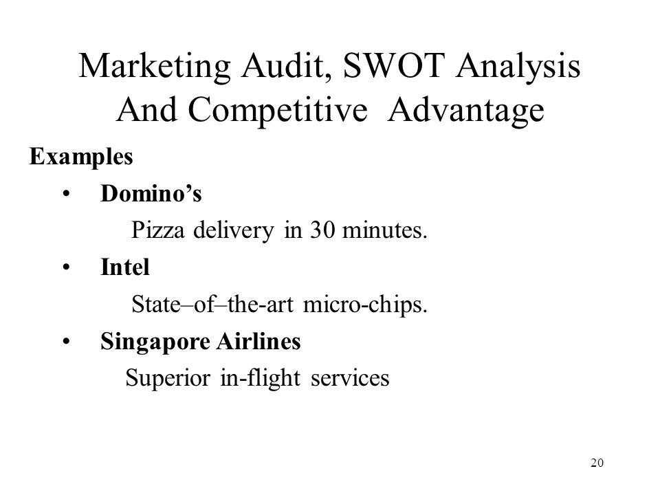 market audit and competitive market analysis