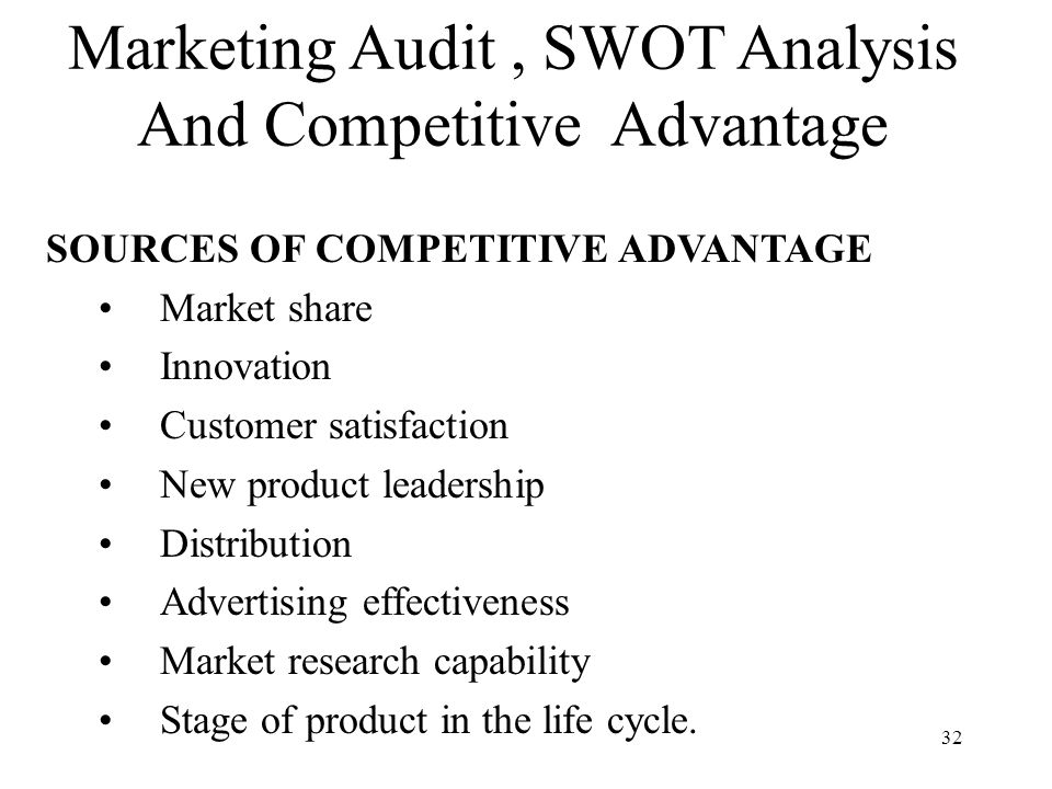 market audit and competitive market analysis This brief covering oversight systems provides an objective swot analysis of the provider and offers a competitive segmentation analysis  audit market: reading the.