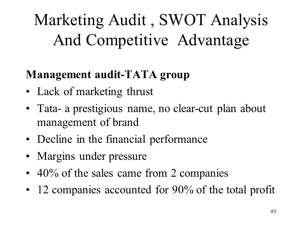 swot analysis a marketing audit Because companies often have a confused view of their digital strategy it is often useful to bring some order to the chaos with a website swot analysis.