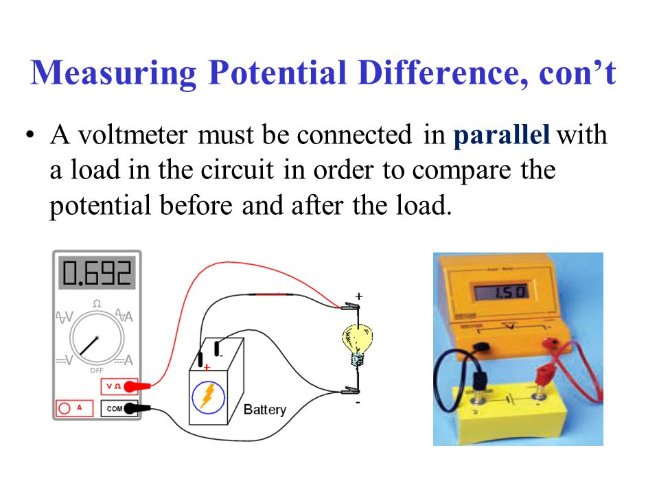Voltmeter In Parallel : Chapter current electricity ppt download