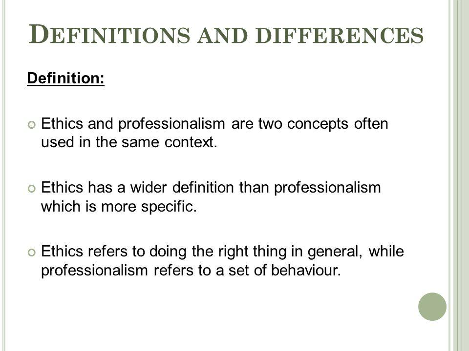 business ethics lecture lesson definition
