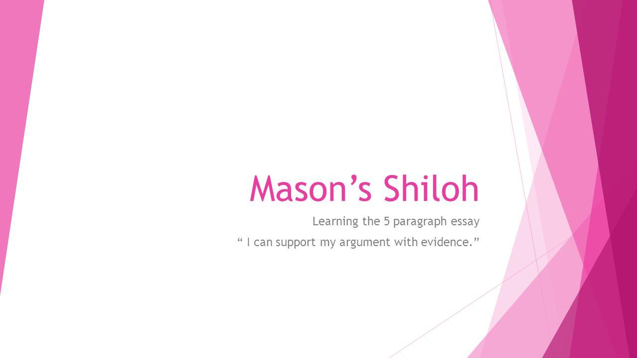 shiloh bobbie ann mason essay