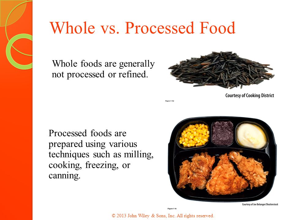 Whole Processed Enriched Fortified Foods