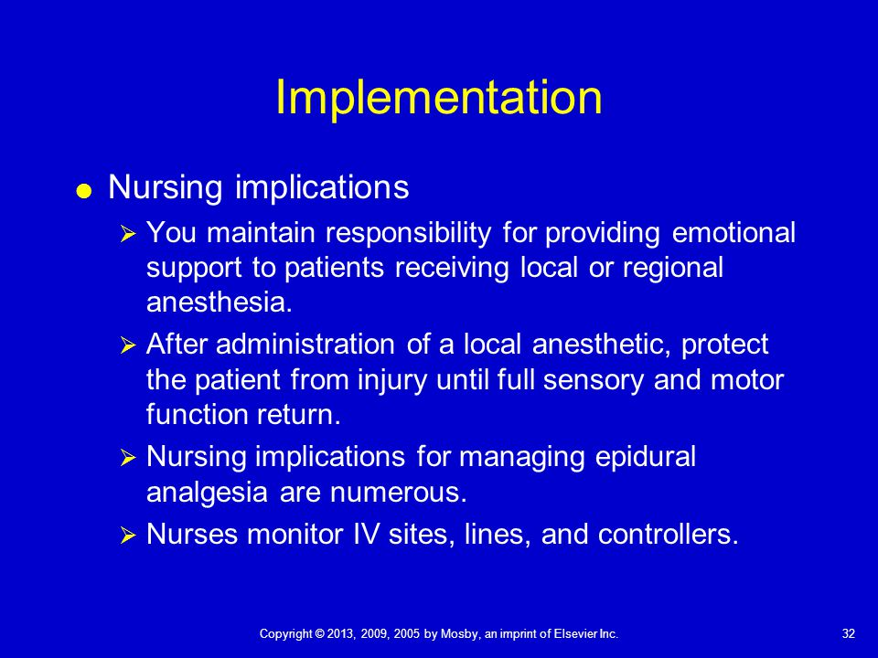 guidelines implementation managing the patient receiving general anesthetic