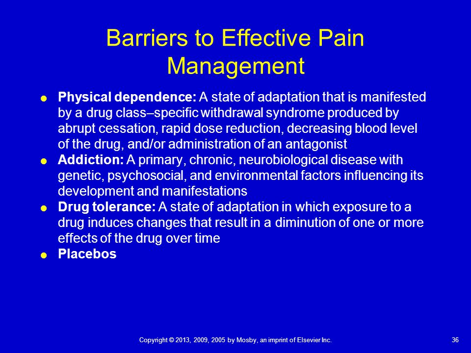 barriers to effective pain management essay Foley and abernathy (2008, p2759) identify numerous barriers to effective pain  management, among which are professional barriers such as inadequate.
