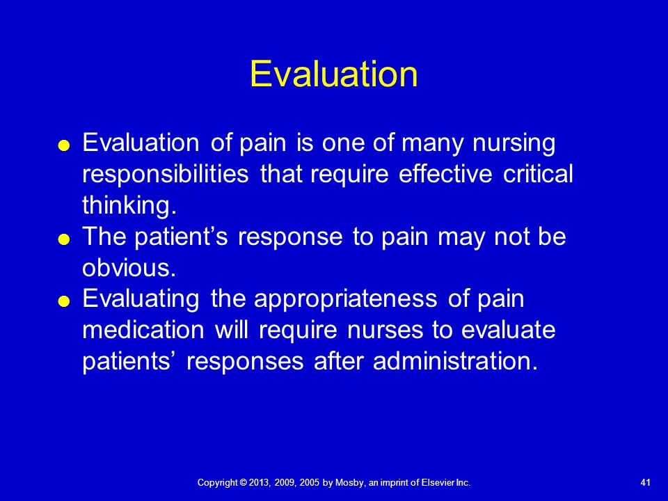 proper assessment and intervention for patients experiencing pain Determine the appropriate nursing interventions required the nursing  patients with advance  improving the quality of care through pain assessment and.