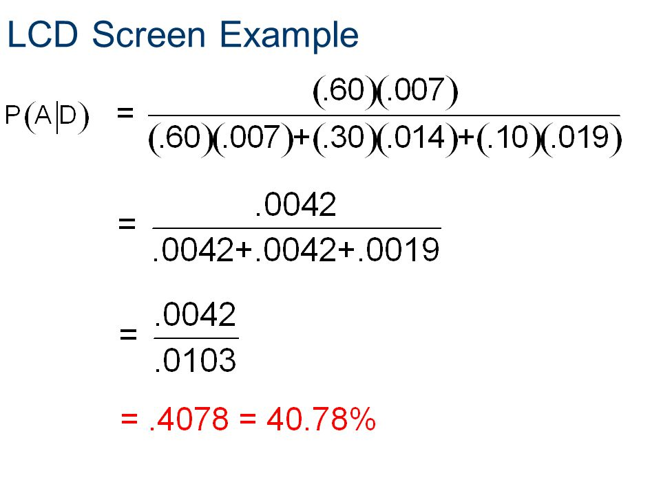 LCD Screen Example Probability Principles of EngineeringTM